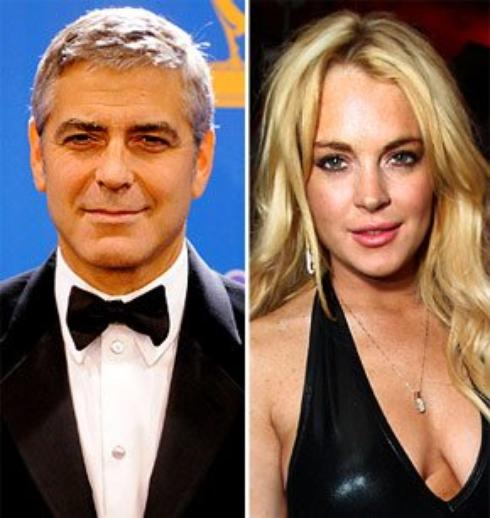 Georges Clooney: Il veut tourner avec Lindsay Lohan