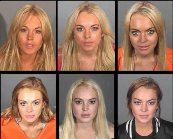 Lindsay Lohan: Dcouvrez ses mugs hot ( photos de prisonnire) de 2007  2013