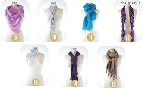 Diff rentes mani res de mettre un foulard - Differentes facons de porter un foulard ...